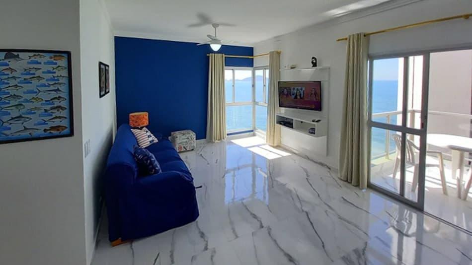 Apartamento para alugar no Guarujá com serviço de praia