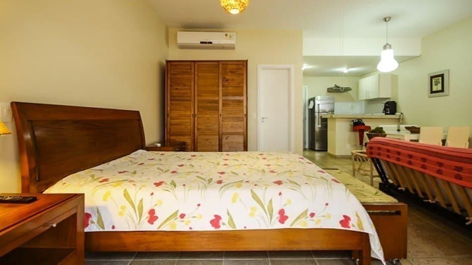 Apartamento para alugar no Guarujá decorado na praia da Enseada