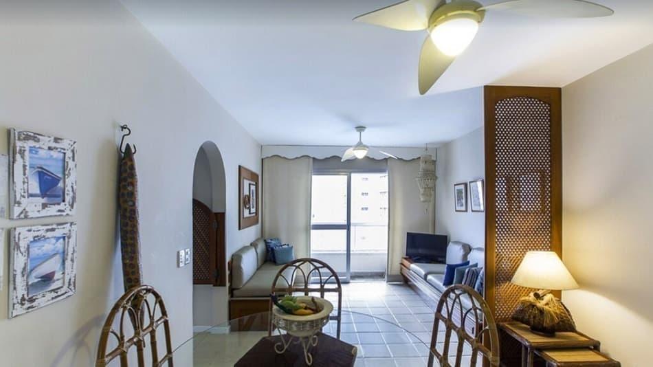 Apartamento para alugar no Guarujá perto da praia de Astúrias