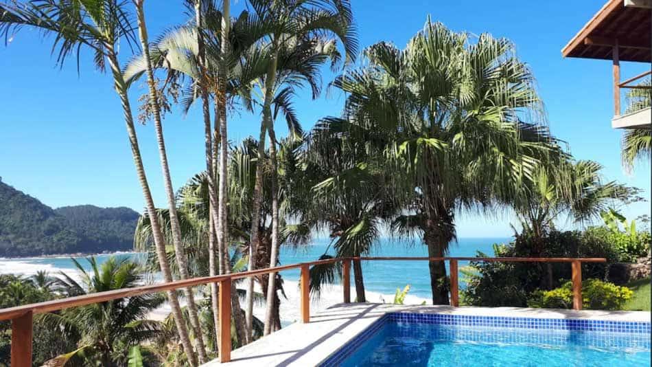 Casa para alugar em Ubatuba com vista