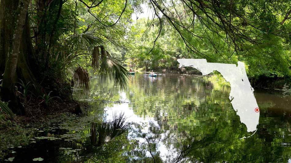 Caiaque no Riverbend Park, em The Palm Beaches