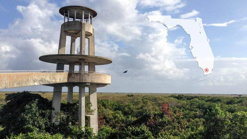 Torre de observação no Shark Valley, na Flórida