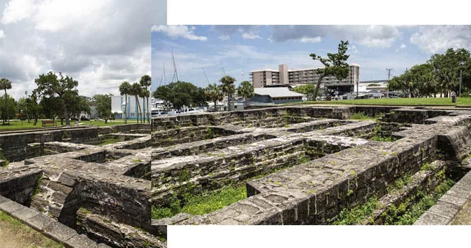 Ruínas do Old Fort Park, em NSB perto de Orlando