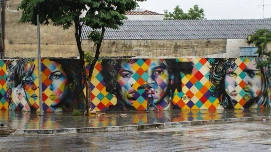 Um dos murais do Kobra em SP: CLUB27