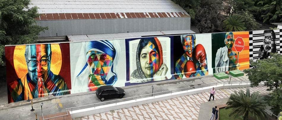 Mural do Kobra em SP: Olhares da Paz