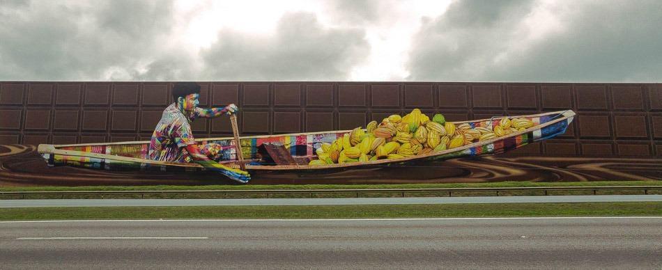 Maior mural do mundo pintado por Kobra em SP