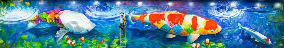 Novo mural do Kobra em SP, no Beco do Batman