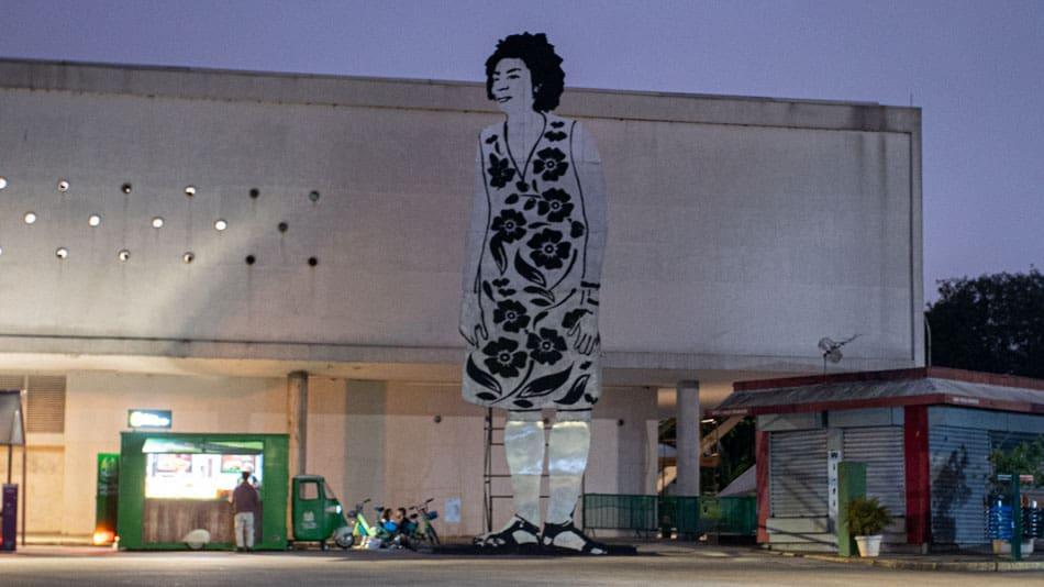 Obra na Bienal de São Paulo